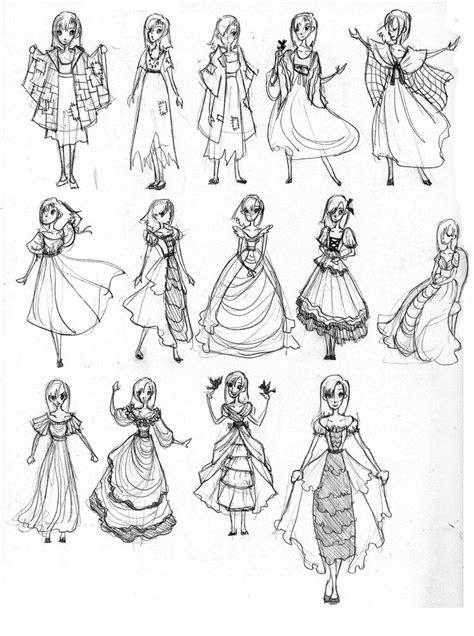 anime dress designs cartoon dresses style walljpg
