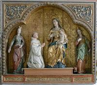 São Bernardo de Claraval aos pés de Nossa Senhora. Heiligkreutztal, Andreas Praefcke