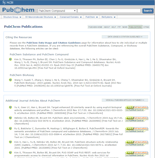 Recent PubChem Publications: Read about What's New!
