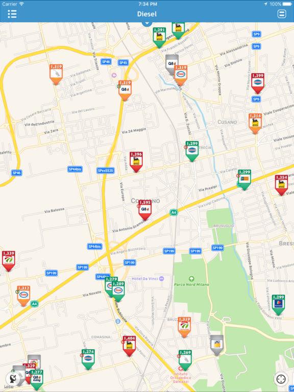 Prezzi Benzina, l'app si aggiorna alla vers 3.5.2
