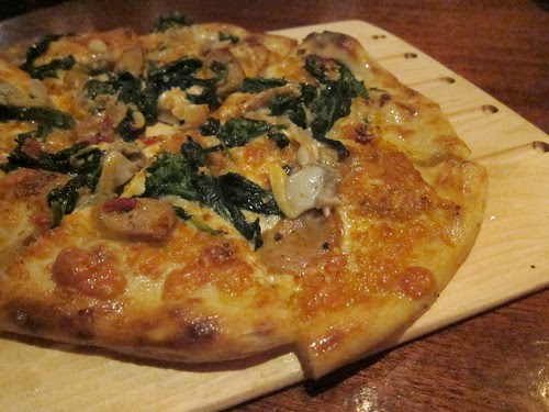 Sausage, Clam, Rapini Pizza