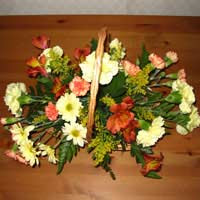 Bronze And Yellow Harvest Floral Display
