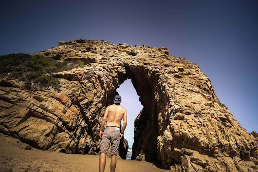 Exploring Rock Formations In Keurboomstrand - Arch Rock - Braai Brothers
