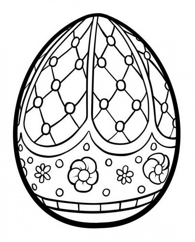 Get This Adults Printable Easter Egg Coloring Pages 87903