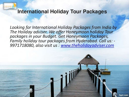 International Holiday Tour Packages from India'