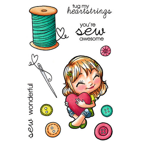 *Sample* In Stitches Tia Clear Stamp, SomeOddGirl - 1