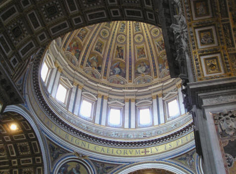 The Dome of St. Peter's Cathedral - Vatican City
