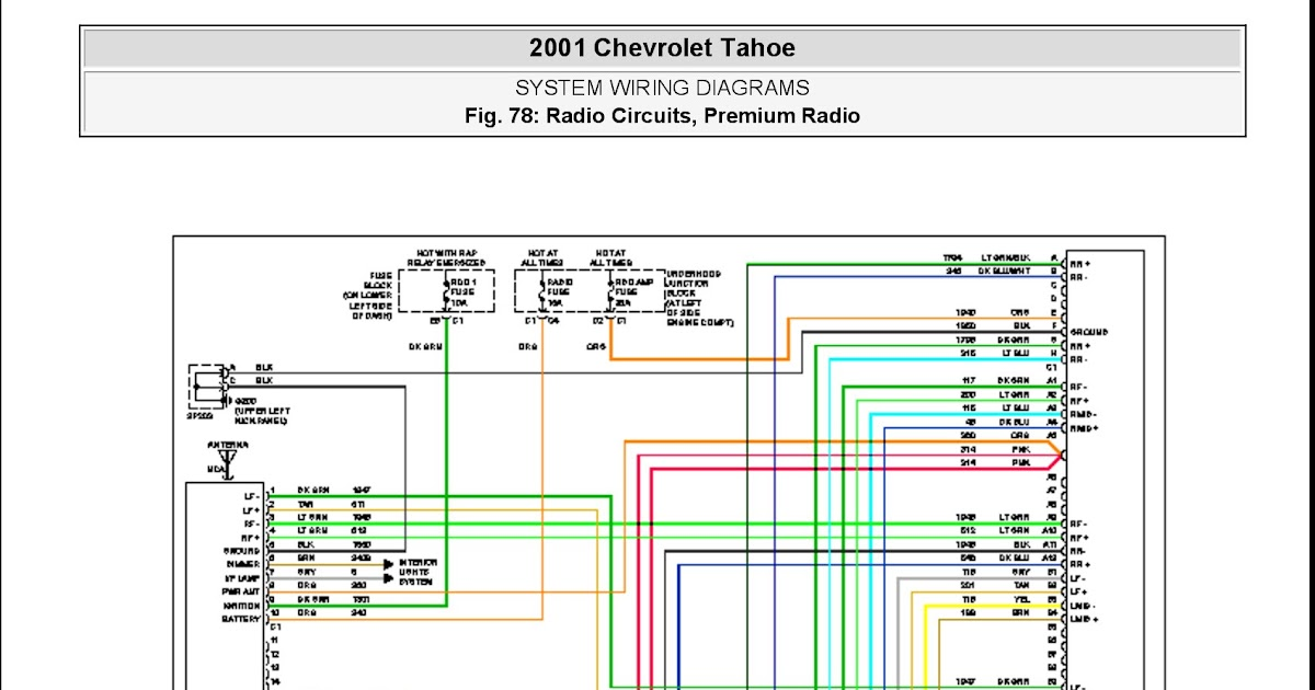 2001 Chevy Tahoe Stereo Wiring Schematic
