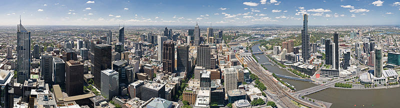 File:Melbourne Skyline from Rialto Equirectangular Crop - Nov 2008.jpg