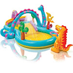 Intex 11ft x 7.5ft x 44in Dinoland Play Center Kiddie Inflatable Swimming Pool at VM Express