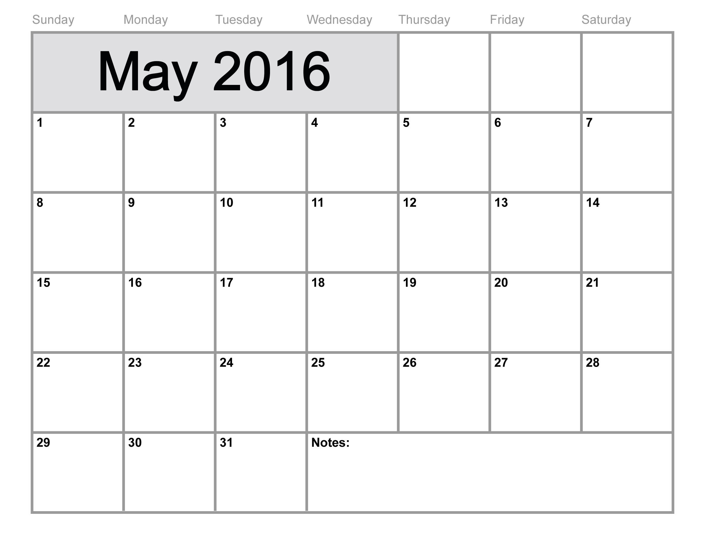 Blank Monthly Calendar Template 2016 from lh3.googleusercontent.com