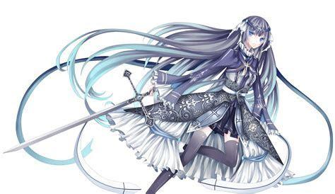 Konachan.com ? 107655 dress long hair original stari sword