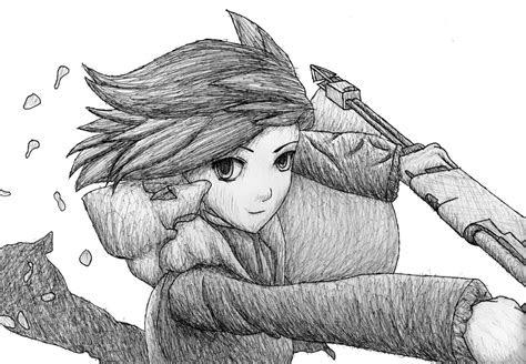 rwby red  sketch   anime drawing
