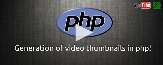 How to generate video thumbnails in PHP?