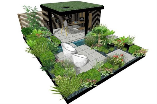Designer creates living outside office at RHS Flower Show Cardiff