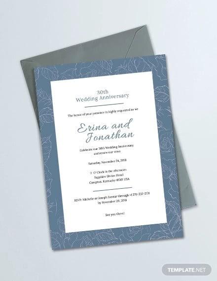 50Th Wedding Anniversary Invitation Templates Microsoft Word
