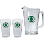 University of Oregon Ducks Pitcher and 2 Pint Glass Set Beer Set
