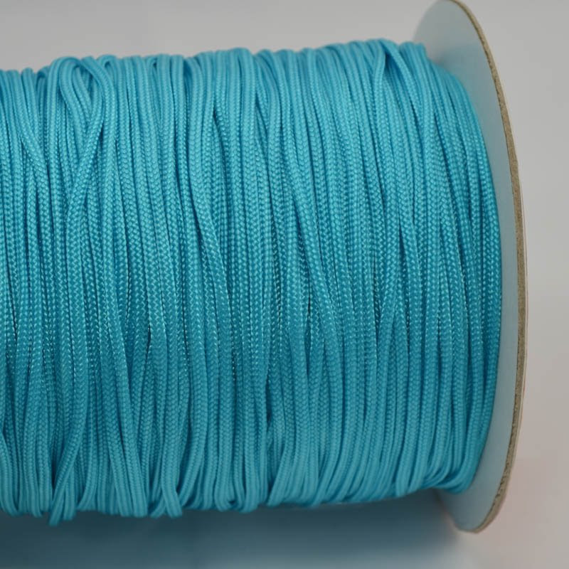 75401002-24 Braid - 2 mm Asian Knotting Cord - Aqua Blue (1 meter)