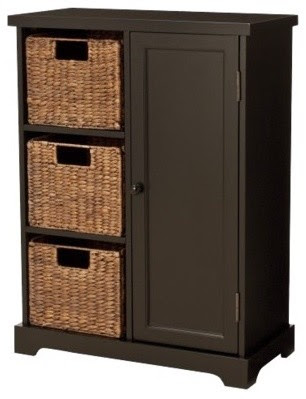 Entryway Storage Cabinet, Espresso - contemporary - bookcases ...