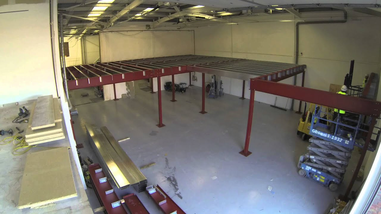 Constructing A Mezzanine Floor In Record Time Timelapse