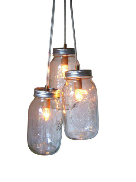 Country Glow Mason Jar Chandelier For Interior Decor – Serendipity Scout