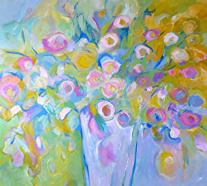 "Scent of Spring by Filomena Booth Acrylic ~ 36"" x 36"""
