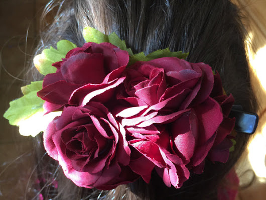 Rose Cluster Hair Clip
