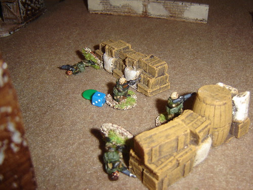 British start to take casualties on the ground