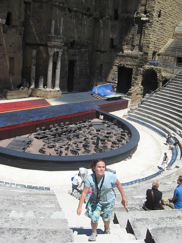 Camille in Coliseum in Orange