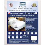 """Bargoose Vinyl Box Spring and Mattress Covers Queen 9""""   Allergy-Reducing Relief"""
