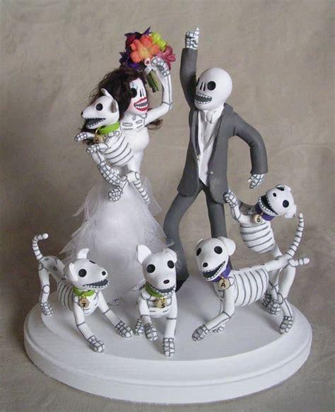 Custom Day of the Dead Wedding Cake Topper Skeleton by
