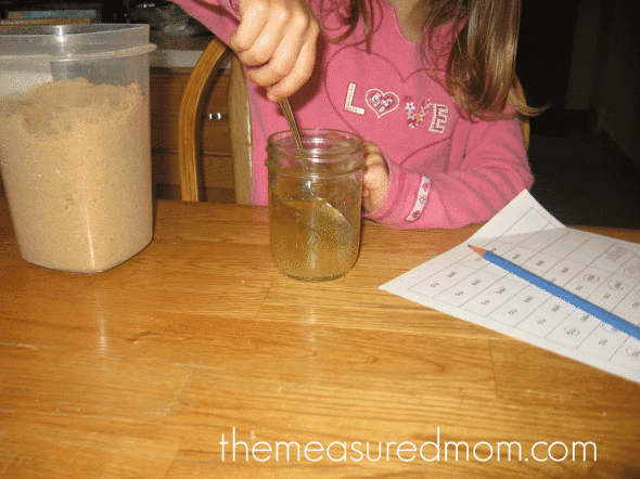 will it dissolve pic 590x442 Water Math & Science Activities for Kids Ages 3 6