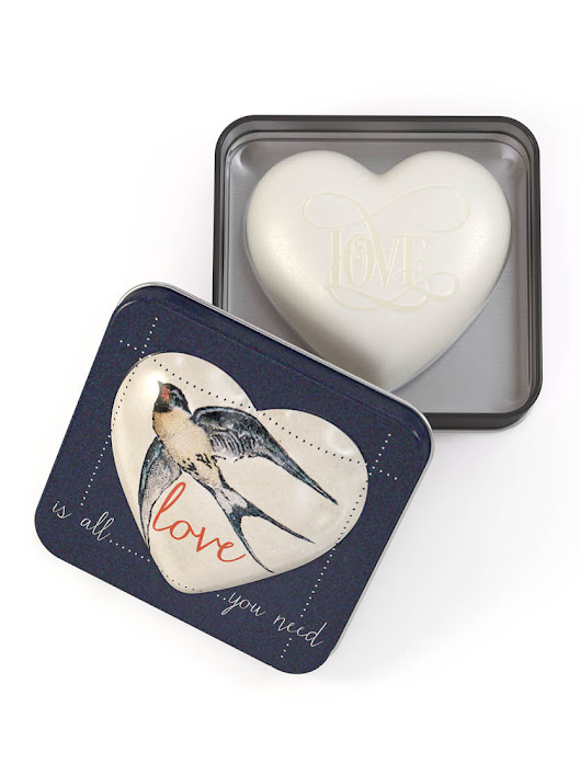 Heart Shaped Soaps In Tins