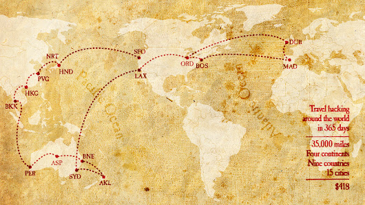 How to Travel Around the World for $418