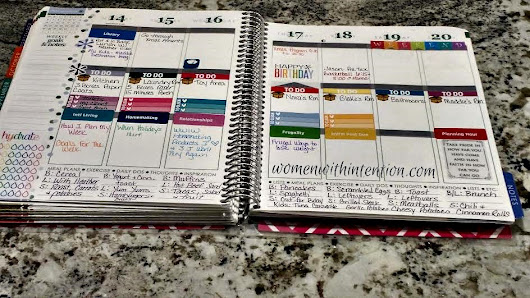 How I Plan My Week Using My Erin Condren Planner - Women With Intention