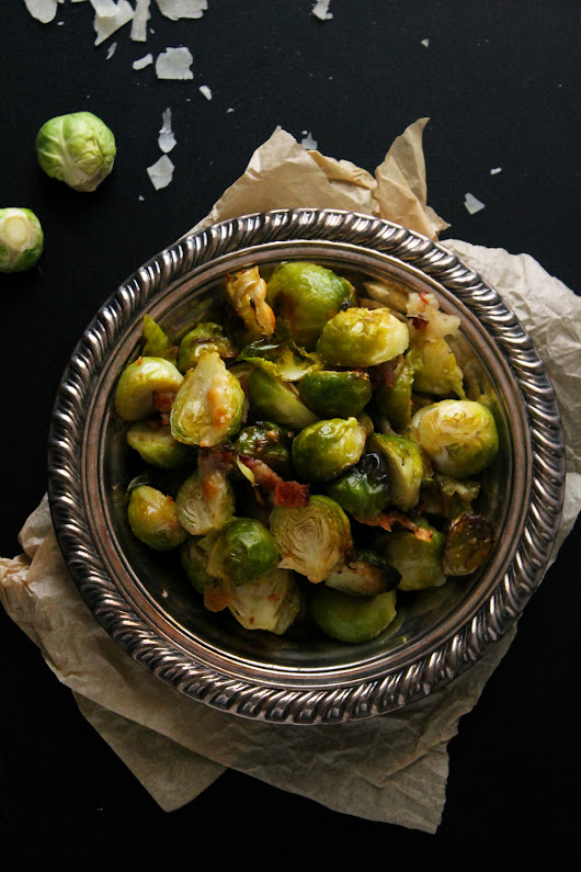 Roasted Bacon Parmesan Brussels Sprouts #DArtagnanFeast {+ A Giveaway} | Natural Chow