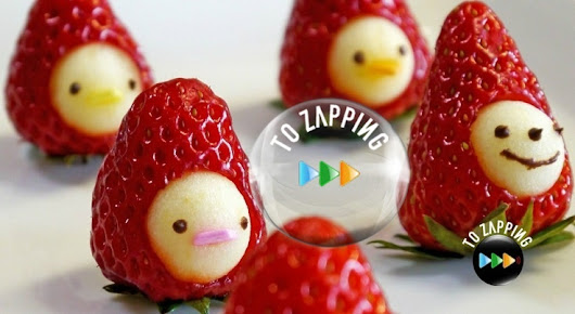 Cómo hacer muñeco de fresa con manzana - Tozapping.com