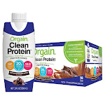 Orgain Clean Grass Fed Protein Shake 11 fl oz, Chocolate, 18-count