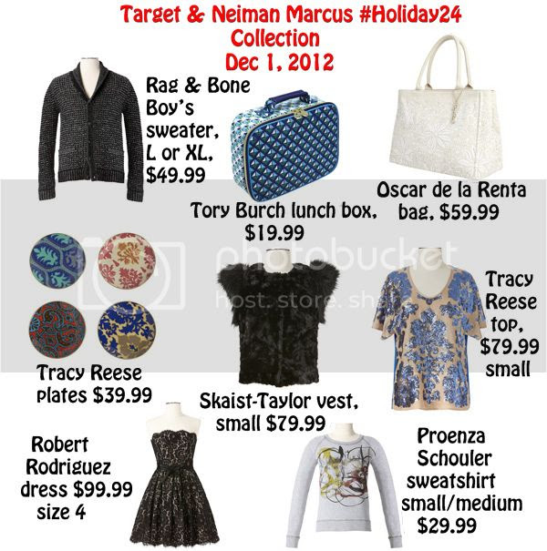 Target Neiman Marcus holiday 24 designer collection, Robert Rodriguez black lace dress, Rag & Bone Target Neiman Marcus sweater