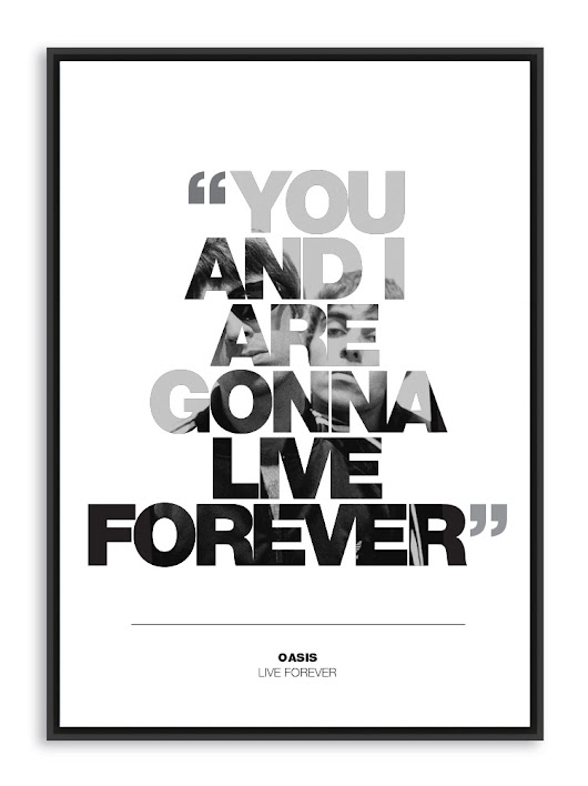 Live Forever Poster Oasis