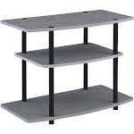Convenience Concepts 131020GYBL Designs2Go 3 Tier TV Stand Gray & Black