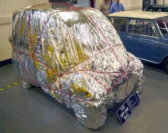 Gordon Murray T25 wrapped in foil