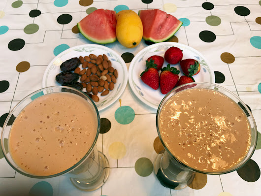 Delicious Healthy Fruits Nuts Smoothie - Versatile Foodie