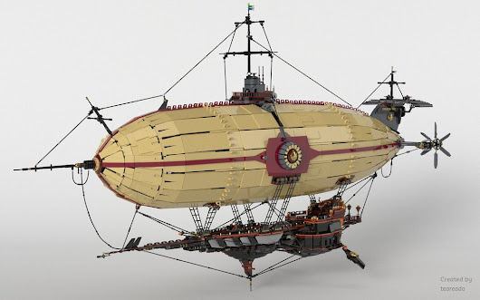 Epic Airship designed by Teareado and rendered by Nachapon