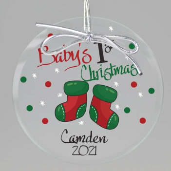 Babys First Christmas Ornament Personalized Baby Ornament Free