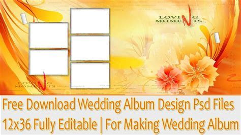 Free Download Wedding Album Design Psd Files 12x36 Fully