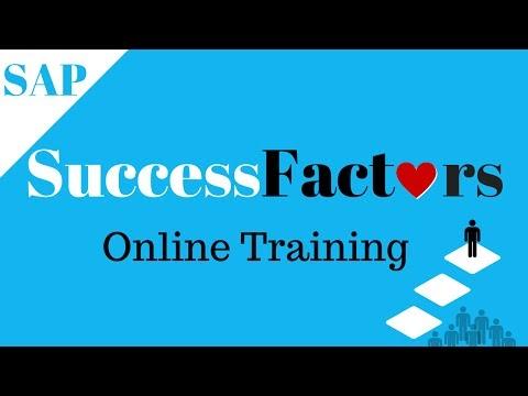 SAP SuccessFactors Online Training Demo | SAP SuccessFactors