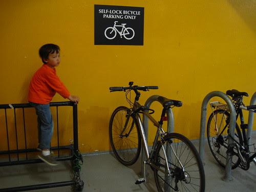 Bike racks have multiple uses.