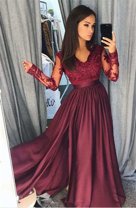 Wine Red Order Ball Gown Prom Dress, A Line Formal Dress