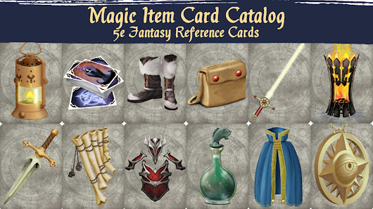 Magic Item Card Catalog: 5e Fantasy Reference Cards